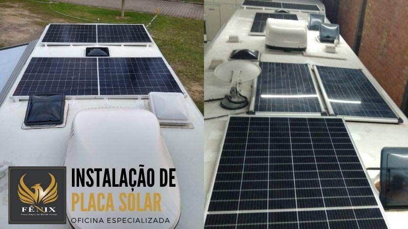 Placa solar para Motorhome